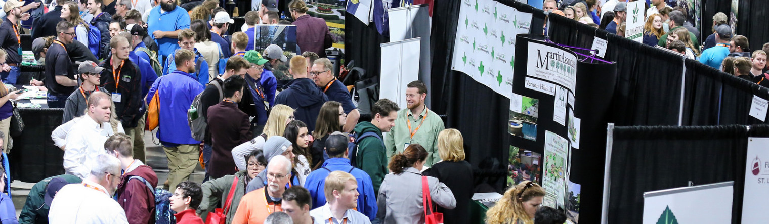 Students Interviewing for Jobs at College Landscape Career Fair