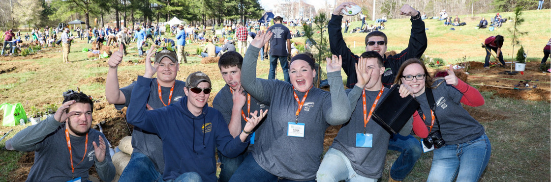 Students at the National Collegiate Landscape Competition